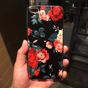 Plum blossom & Roses Flowers  shape Cases for iPhone 8 & 8 Plus