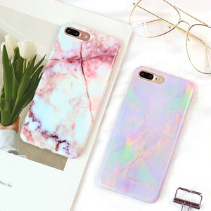 Marble Texture Case For iPhone X