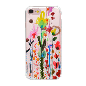 Cartoon Transparent iPhone X Case