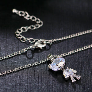 Zircon Bear Pendant Necklace