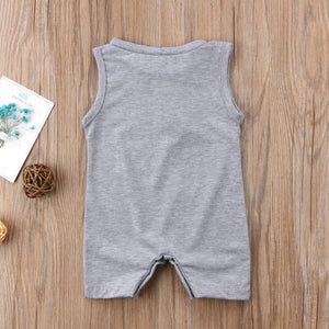 Casual Sleeveless Romper Jumpsuit for Baby Boy