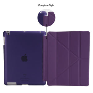 Foldable Smart iPad Case Leather iPad models 2/3/4