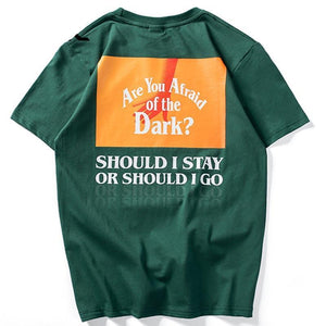 Afraid Dark Print Hand Top Tee Short Sleeve T Shirt