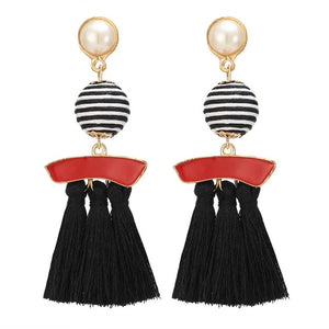 Multicolor Tassel Earrings For Women