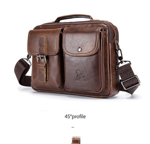 Genuine Leather Shoulder Crossbody Messenger Bag
