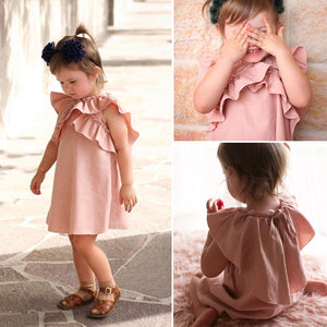 Princess Vest Short Sleeve Ruffles for Kids Girls