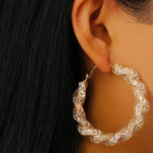 Geometric Circle Round Hoop Earrings for Women
