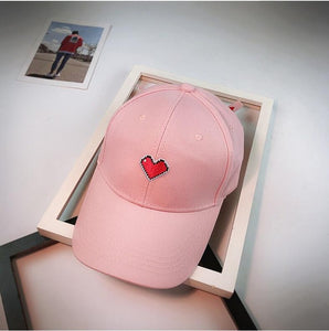 Red Heart Icon Style Dad Hat