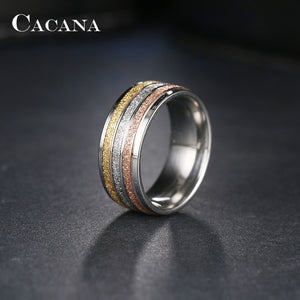Three Color Lines Stainless Steel Rings