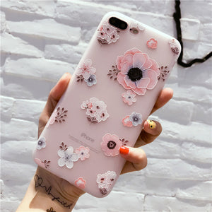 Flower Pattern Case For iPhone X