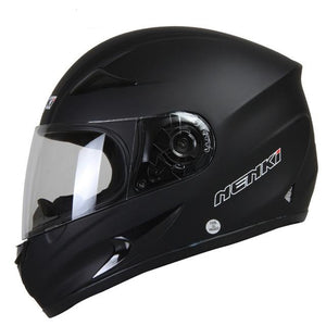Moto Helmet Black Motorcycle Full Face
