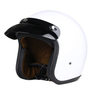 Retro Vintage Synthetic Leather Open Face Helmet