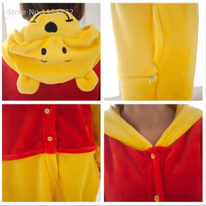 Winnie Bear Animal Adult Onesie Pajama Costume