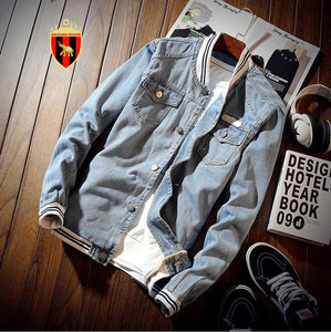 Sports Denim Bomber Men's Jacket