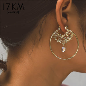 Circle Round Hoop Earrings For Women