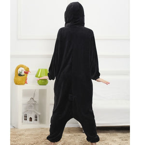 Black Penguin Adult Onesie Party Pajama Costume