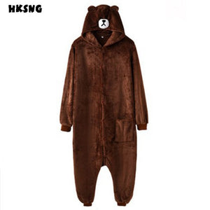 Brown Bear Adult Onesie Pajama Costume