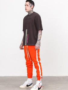 Casual Striped Reflective Men's Track Sweatpants