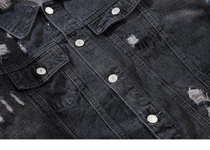 Wolf Embroidery Quality Denim Jacket