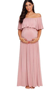 Off Shoulder Mermaid Maternity Dress