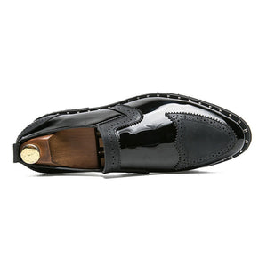 Luxury Men Leather Patent Dress Shoe