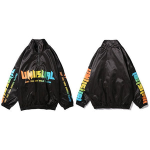 Half Zip Pullover Unusual Windbreaker Jacket
