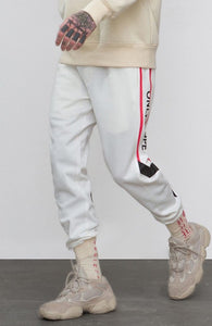 'Only Hope' Letter Print Stripe Men's Track Sweatpants