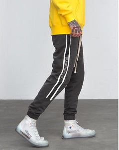 High Street Fashion Hip Hop Elastic Waist Casual Men's Track Sweatpants
