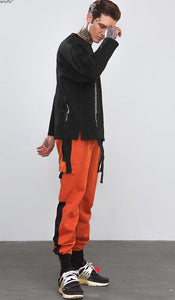 Colour Patchwork Hip Hop Harem Men's Track Sweatpants