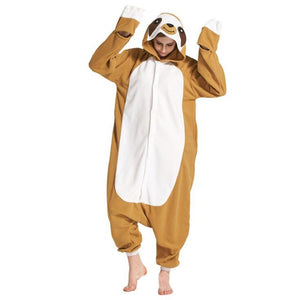 Sloth Adult Onesie Pajama Costume Cosplay