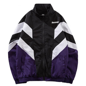 Autumn Retro Vintage Windbreaker Jacket