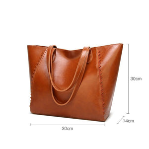Classic Leather Women's Shoulder Bag