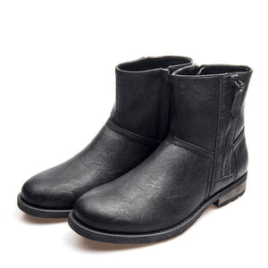 Leather Waterproof Ankle Men's Boot