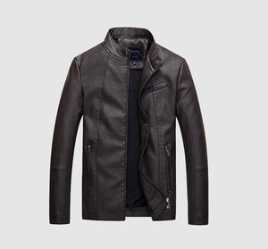 Leisure Business Classic Warm Men's Leather Jacket