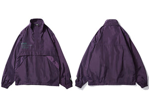 Vintage Purple Track Windbreaker Jacket