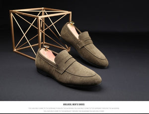 Casual Suede Loafer Solid Men's Shoe