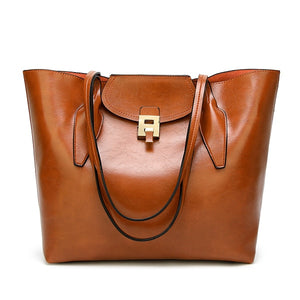 Leather Vintage Large Tote Women's Handbag