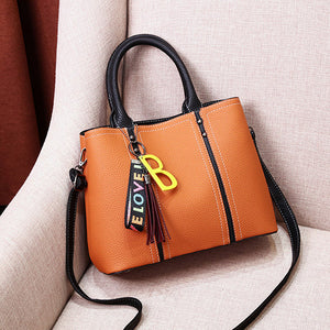 Casual Tassels Decor Women's Shoulder Handbag