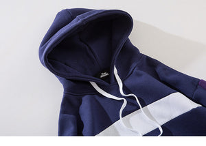 Color Block Cotton Fleece Hooded Hoodie