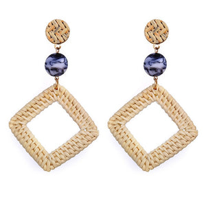 Geometric Weave Chandelier Earrings For Women