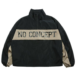 No Concept Autumn Hip Hop Track Windbreaker Jacket