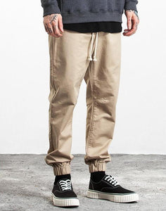 Cargo Style Ankle-Tied Men's Track Sweatpants