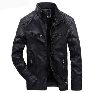 New Winter Fashion High Quality Casual Biker Men's Leather Jacket