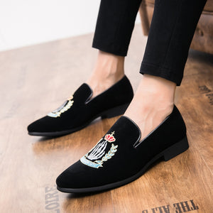 Luxury Embroidery Casual Men's Loafer Shoe