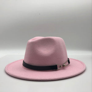 Vintage Trilby Felt Fedora Hat With Wide Brim
