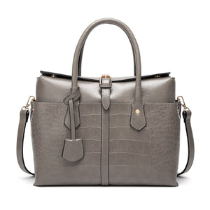 Alligator-Pattern Leather Satchels Shoulder Women's Bag