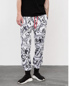 Funny Dollars Digital Printing Harem Casual Men's Track Sweatpants