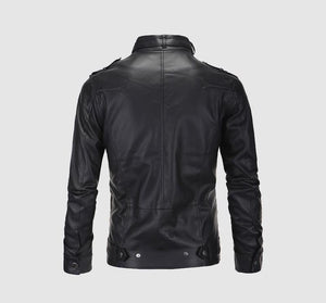 Faux Fall Winter Thin Men's Leather Jacket