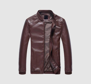 Faux Spring Fall Thin Men's Leather Jacket