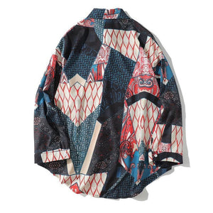 Hip Hop Casual Geometry Patchwork Long Sleeve Shirts